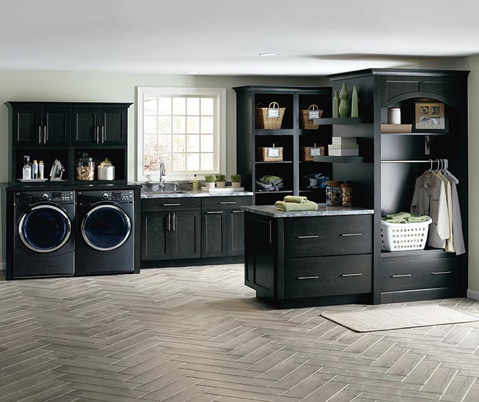 Leeton dark grey laundry cabinets