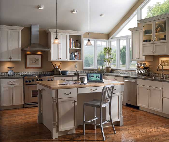 Painted kitchen cabinets by Diamond Cabinetry