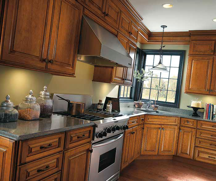Traditional Cherry Kitchen Cabinets