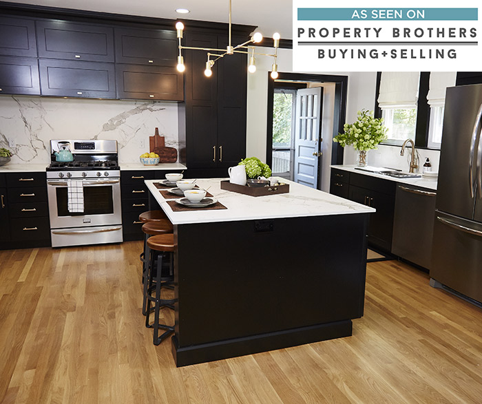 Breman black kitchen cabinets