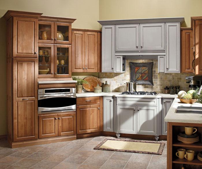 Carson Alder kitchen cabinets