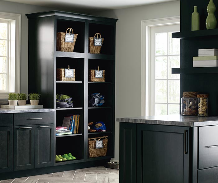 Leeton dark grey laundry cabinet storage