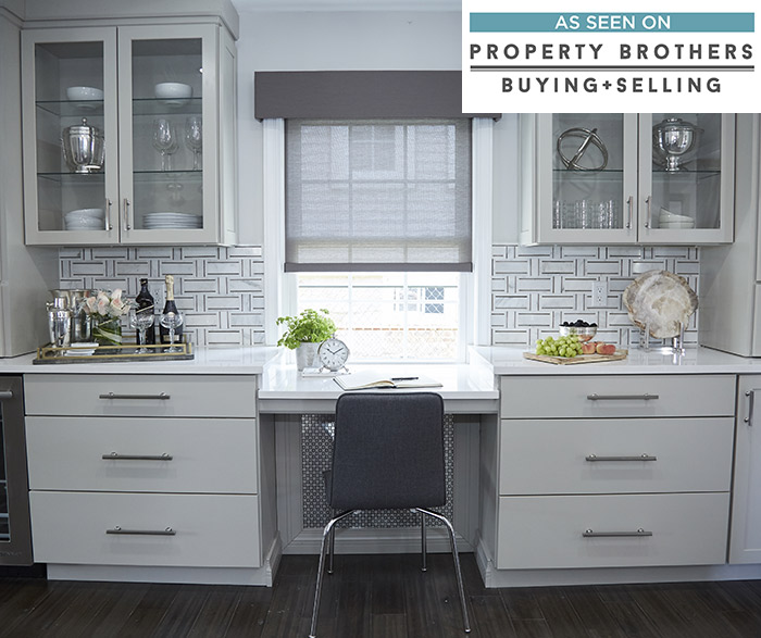 Shaker style cabinets in a casual Montgomery kitchen