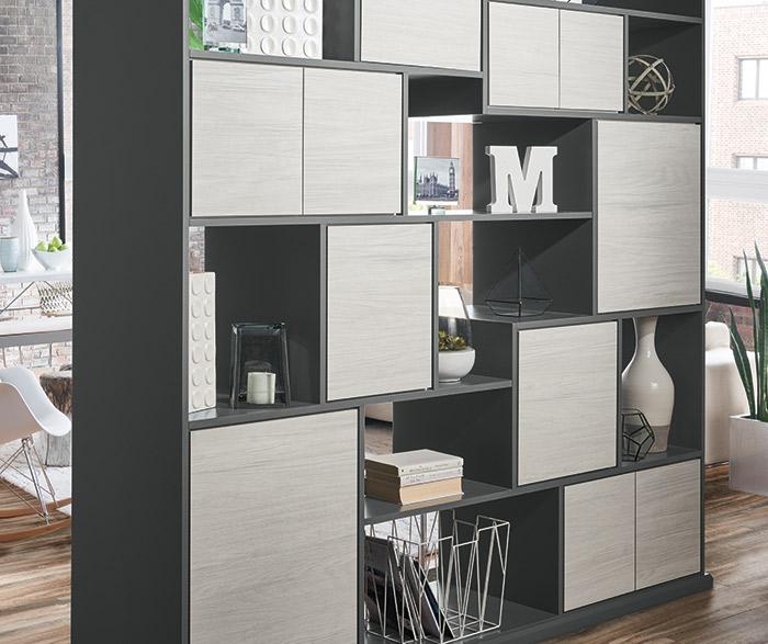 Tranter textured laminate room divider cabinets