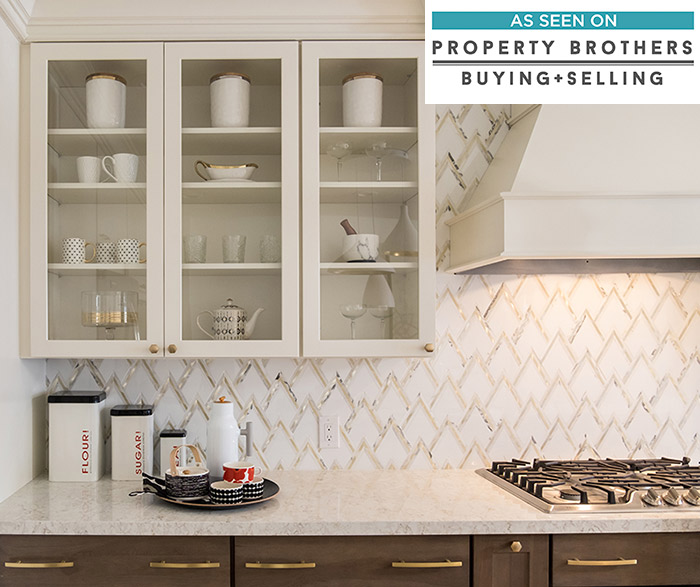 Painted Maple and Hickory kitchen cabinets