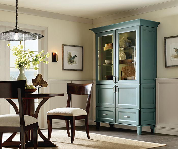 Wells dining room storage cabinet in Maple Oasis