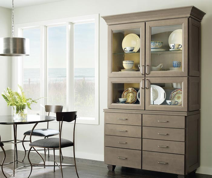 Wells dining room cabinet in Maple Seal